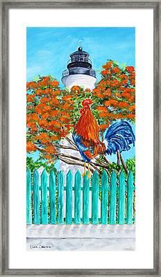 Lighthouse Rooster II Framed Print