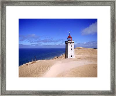 lighthouse Rubjerg Framed Print by Giorgio Darrigo