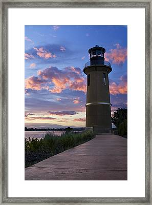 Framed Print featuring the photograph Lighthouse by Sonya Lang