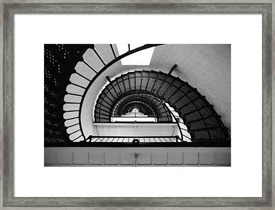 Lighthouse Spiral Framed Print by Beverly Stapleton