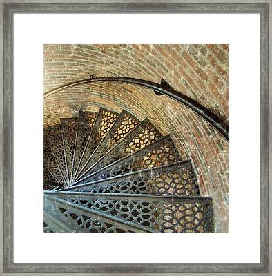 Lighthouse Spiral Staircase Framed Print