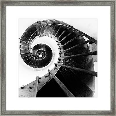 Lighthouse Staircase Framed Print by Stelios Kleanthous