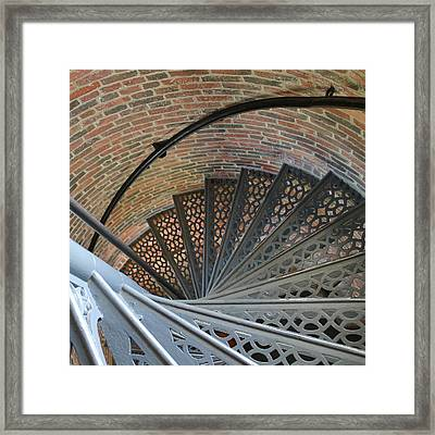 Framed Print featuring the photograph Lighthouse Stairs by Colleen Williams