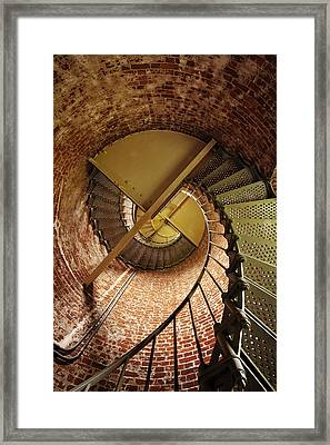 Lighthouse Stairwell Framed Print by Andrew Soundarajan