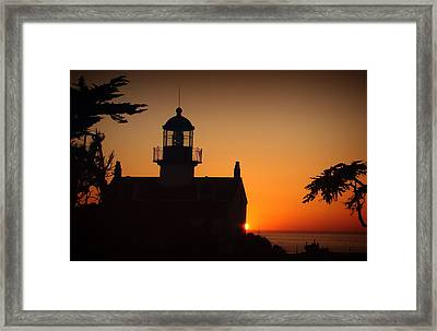 Framed Print featuring the photograph Lighthouse by Steve Benefiel