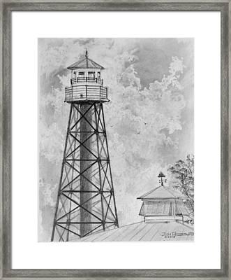 Lighthouse Sumter Landing Framed Print by Jim Hubbard