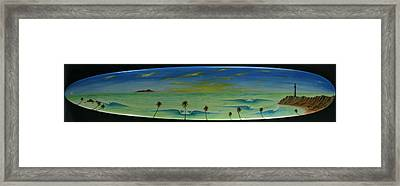 Lighthouse Surfers Cove Framed Print