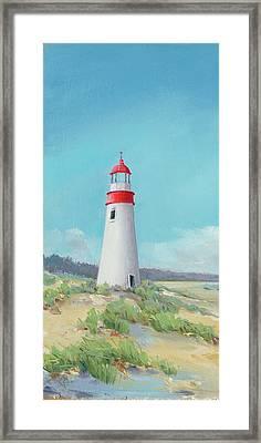 Lighthouse Tall Framed Print by P.s. Art Studios