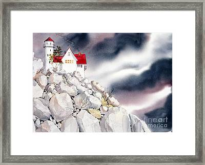 Lighthouse Framed Print by Teresa Ascone