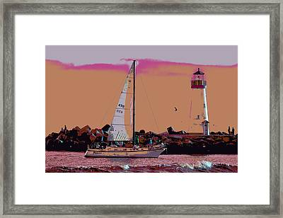 Lighthouse Tour 8940 Framed Print by Tom Kelly