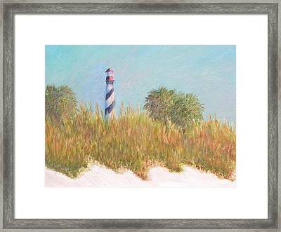 Lighthouse View From St. Augustine Beach Framed Print