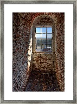 Lighthouse Window Framed Print by Peter Tellone