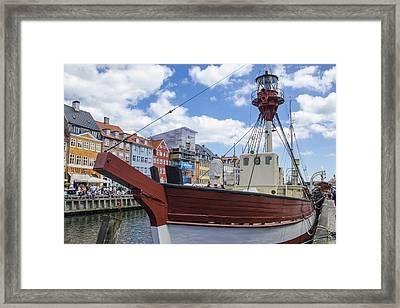 Lighthouse Xvii - Nyhavn - Copenhagen Denmark Framed Print by Jon Berghoff
