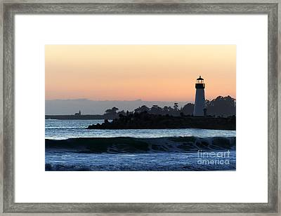 Lighthouses Of Santa Cruz Framed Print by Paul Topp