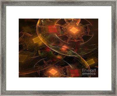 Lighting Decorations Framed Print by Klara Acel