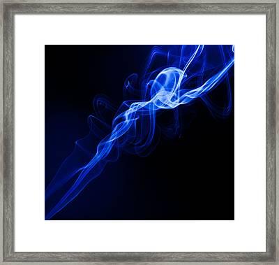 Lighting In Swirls Framed Print by Peter Harris