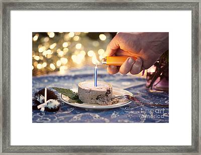 Lighting The Birthday Candle Framed Print by Juli Scalzi