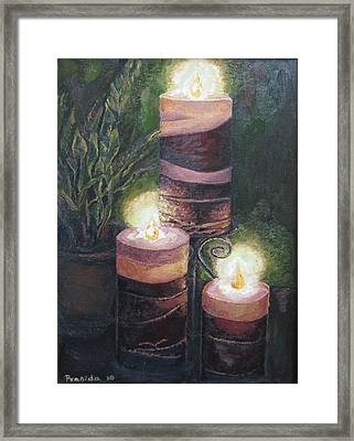 Lighting The Dark Corners Framed Print by Prasida Yerra