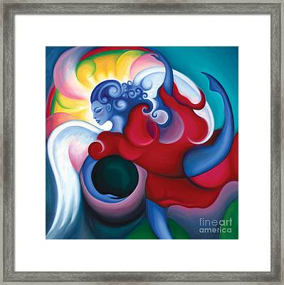 Lighting The Dark Framed Print by Tiffany Davis-Rustam