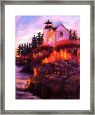 Lighting The Way Framed Print by Gail Kirtz