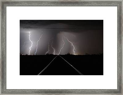 Lighting Up The Tracks Framed Print