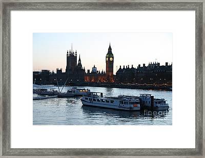 Lighting Up Time On The Thames Framed Print
