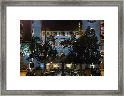 Lightner At Night Framed Print by Kenneth Albin