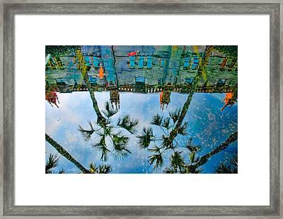 Lightner Museum Koi Pond Reflection Framed Print