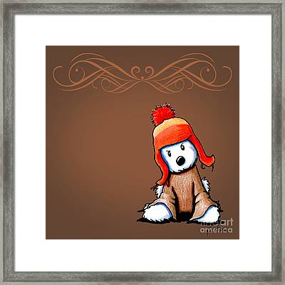 Lightning Bug Hat Westie Framed Print by Kim Niles