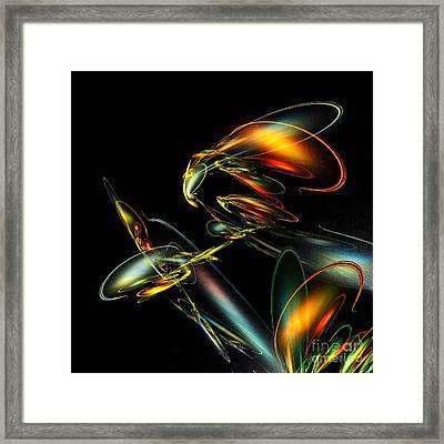 Lightning Bug Framed Print by Klara Acel