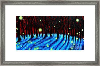 Lightning Bugs 2 Framed Print