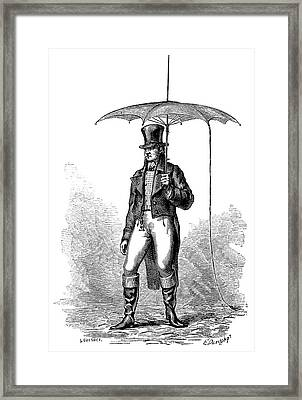 Lightning Conductor Umbrella Framed Print by Science Photo Library