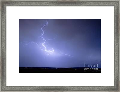 Lightning Goes Boom In The Middle Of The Night Framed Print by James BO  Insogna