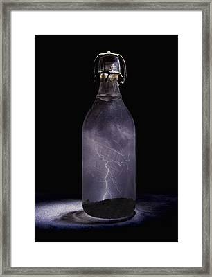 Lightning In A Bottle Framed Print by John Crothers