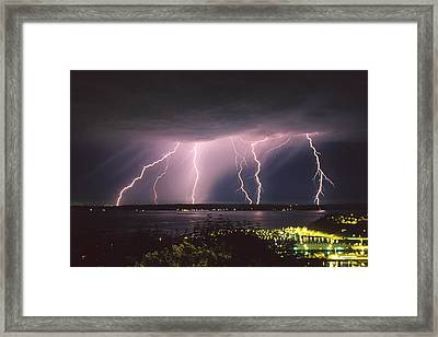 Lightning Framed Print by King Wu