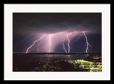 Lightning Rod Framed Prints