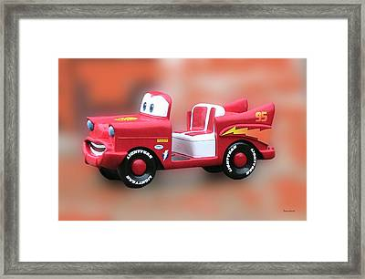 Lightning Mcqueen Framed Print by Thomas Woolworth