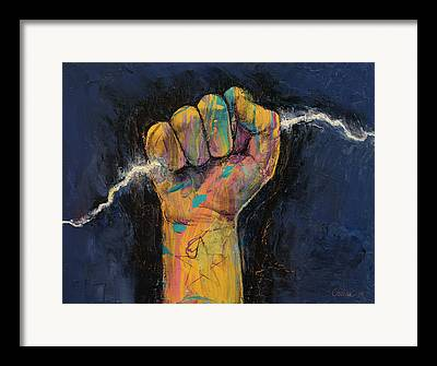 Clenched Fist Framed Prints