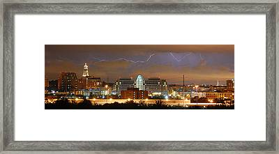 Lightning Over Alexandria Framed Print