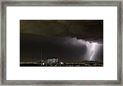 Framed Print featuring the photograph Lightning Over Las Vegas 2 by James Sage