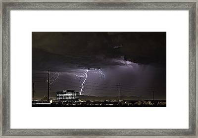 Framed Print featuring the photograph Lightning Over Las Vegas by James Sage