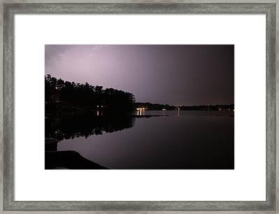 Lightning Over Water Framed Print by Sarah Klessig
