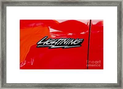 Lightning Framed Print by Paul Mashburn