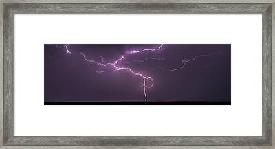 Framed Print featuring the photograph Lightning by Rob Graham
