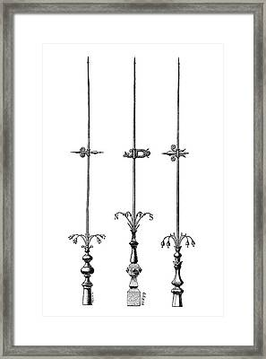 Lightning Rods Framed Print by Science Photo Library