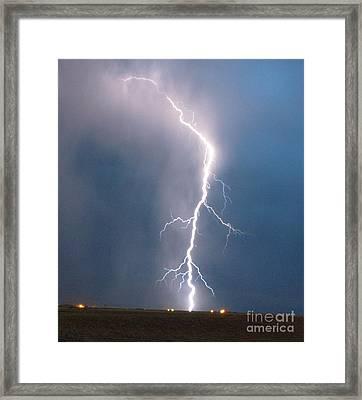 Lightning Roots Framed Print by Christian Jansen