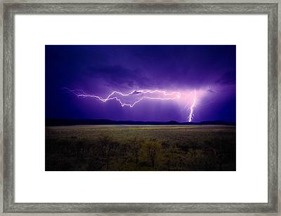 Lightning Serengeti Framed Print