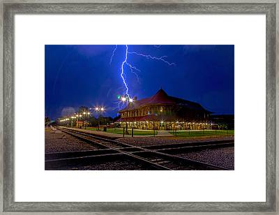 Lightning Show Framed Print