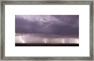 Framed Print featuring the photograph Lightning Storm by Rob Graham