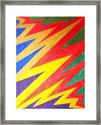 Lightning Framed Print by Stormm Bradshaw
